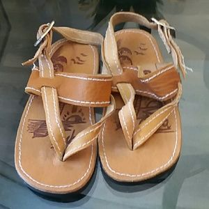 Other - Brown leather kids Sandles size 5
